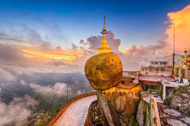 Visit the charming Golden Rock in Myanmar Itinerary 5 days