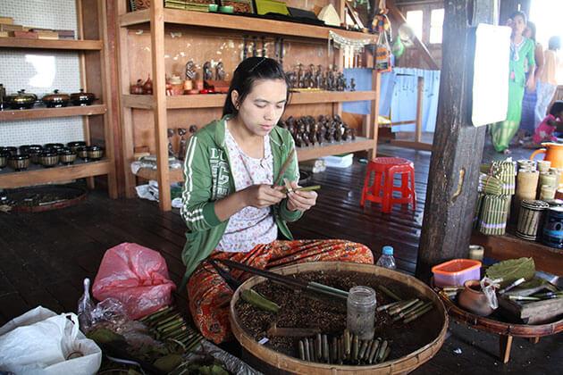 cheroot factory in Nampan village