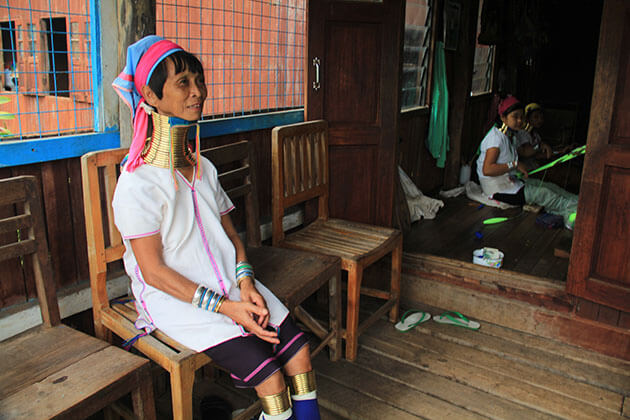 longneck women in Inle Lake