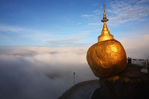 the Golden Rock on the top of the pagoda
