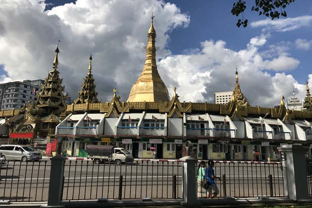 the Sule Pagoda in Yangon