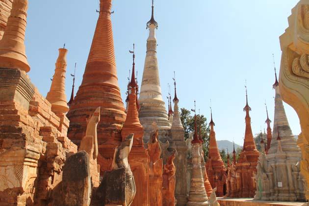 the anciennt stupa complex in Indein Village
