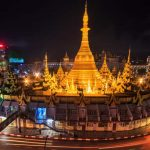 the impressive Sule Pagoda in Yangon