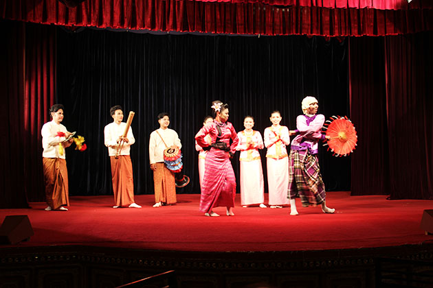 traditional dance in yangon