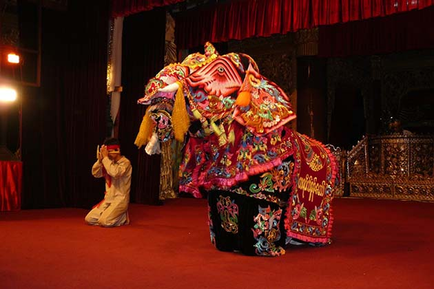 Elephant Dance in Karaweik Hall