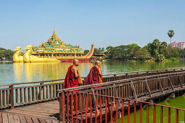 Kandawgyi Lake in Myanmar itinerary 7 days