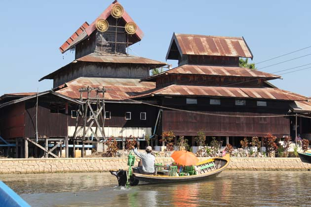 Nga Phe Chaung Monastery in Inle Lake