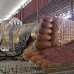 the reclining Buddha image in Chauk Htat Gyi Pagoda