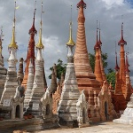 Ancient stupas in Shwe Indein Pagoda
