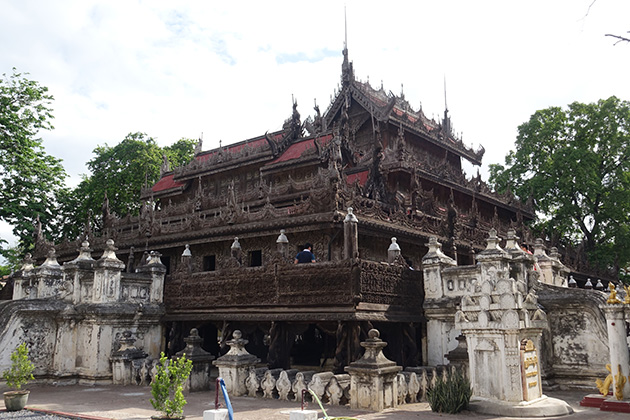 Golden palace monastery in Mandalay