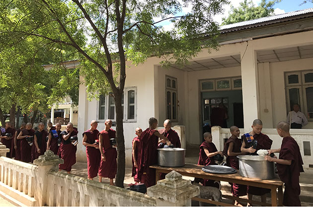 Learn about the life of Monks in a monastery Myanmar Thailand trip