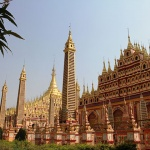 Mohnyin Than Boddhay Pagoda is famous for its unique architecture