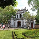 The temple of Literature is the first national university of Vietnam