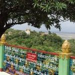 View from the pagoda on the top of Sagaing Hill