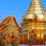 Wat Phra That Doi Suthep is the most famous pagoda in Chiang Mai