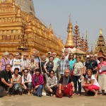nice photo of our clients at Shwezigon pagoda