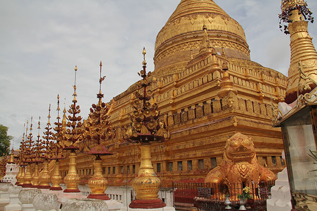 shwezigon pagoda-where keeping the bone and tooth of Gautama Buddha