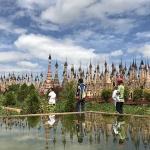 the beautiful Kakku pagoda
