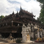 the golden palace monastery in Mandalay