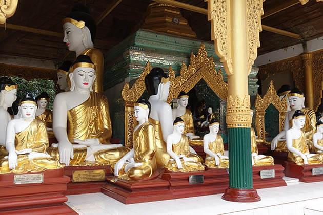 Buddha images Shwedagon Pagoda