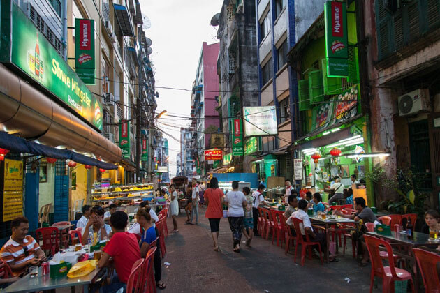 Chinatown-one of the most vibrant streets to visit in Yangon tours