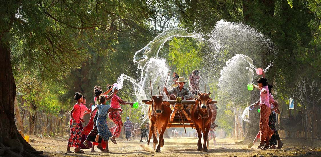 Myanmar Water Festival-Myanmar tours