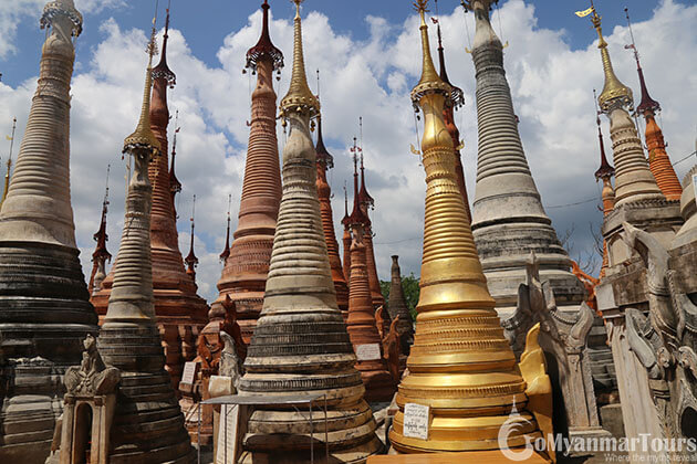 Shwe indein pagoda - highlight of inle lake