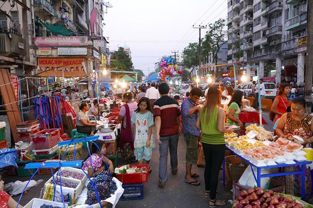Wandering around Chinatown - must thing to do in Yangon