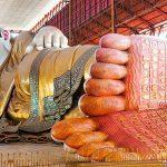 reclining Buddha image in chaukhtatgyi pagoda