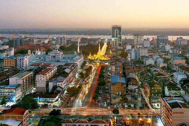 see the great view of Yangon in Yangon trips