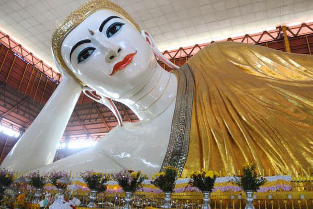visit chauk htat gyi pagoda is one of the top things to do in Yangon