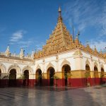 Mahamuni Pagoda where enshires the most sacred buddha image in myanmar