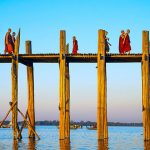 U bein bridge - a lovely sight to obsverse the local people