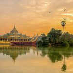 karawek palace on kandawgyi lake-beautiful photo stop in Yangon