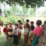 meet children in the village in kalaw