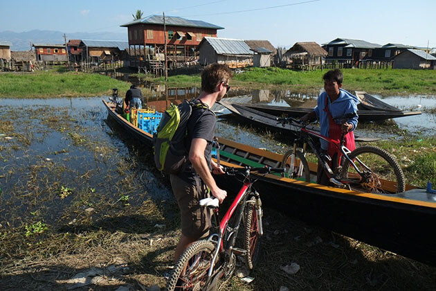 inle lake biking-myanmar cycling tours