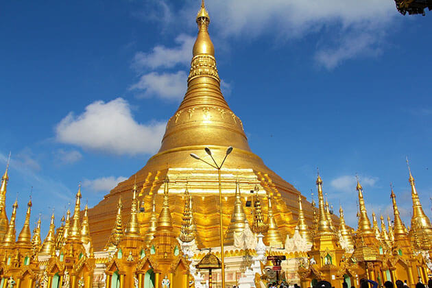 Shwedagon pagoda - home to the sacred Buddha relics