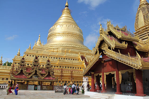 Shwezigon temple is one of the most sacred temple in the country