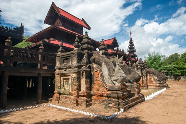 Yoke sone kyaung monastery - the beautiful wooden monastery of salay
