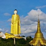 laykyun Setkyar Standing Buddha