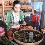 the local cheroot making in Nampan village