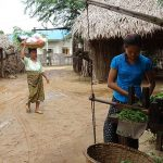 villagers in Bagan making their daily life