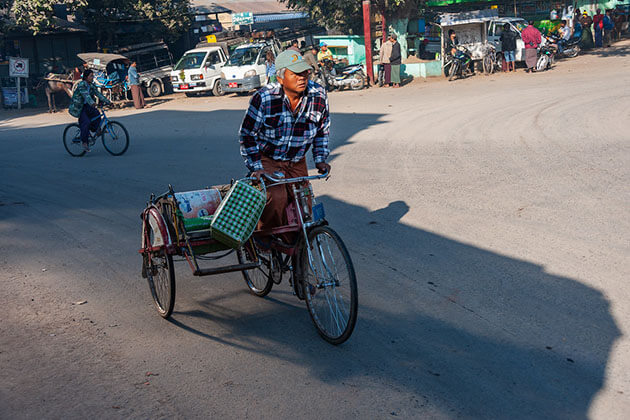 Explore Magwe on a trishaw