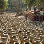 Kyauk myong pottery village