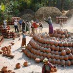 Local artisans in Yandaboo village