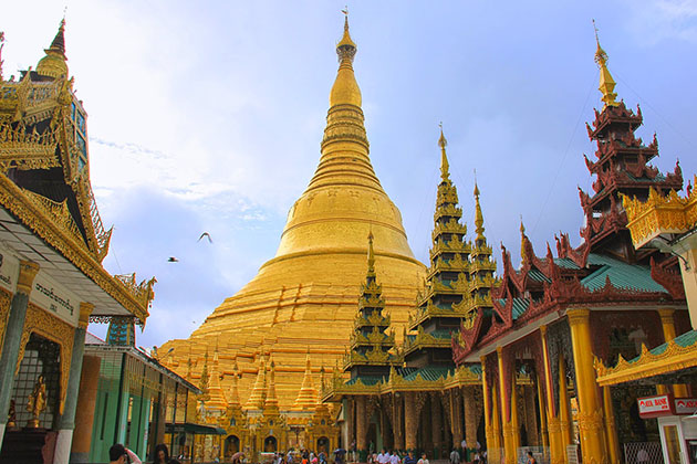 Shwedagon Pagoda is the most famous site in yangon