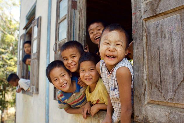 children in Ngar Own village