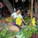local people selling fresh flowers in Nyaung U Market