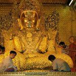 mahamuni buddha image attraction for myanmar beach holiday