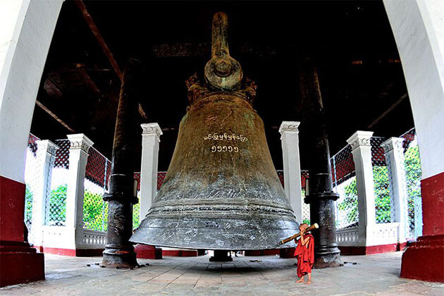 mingun bell is the second largest intacting bell in the world